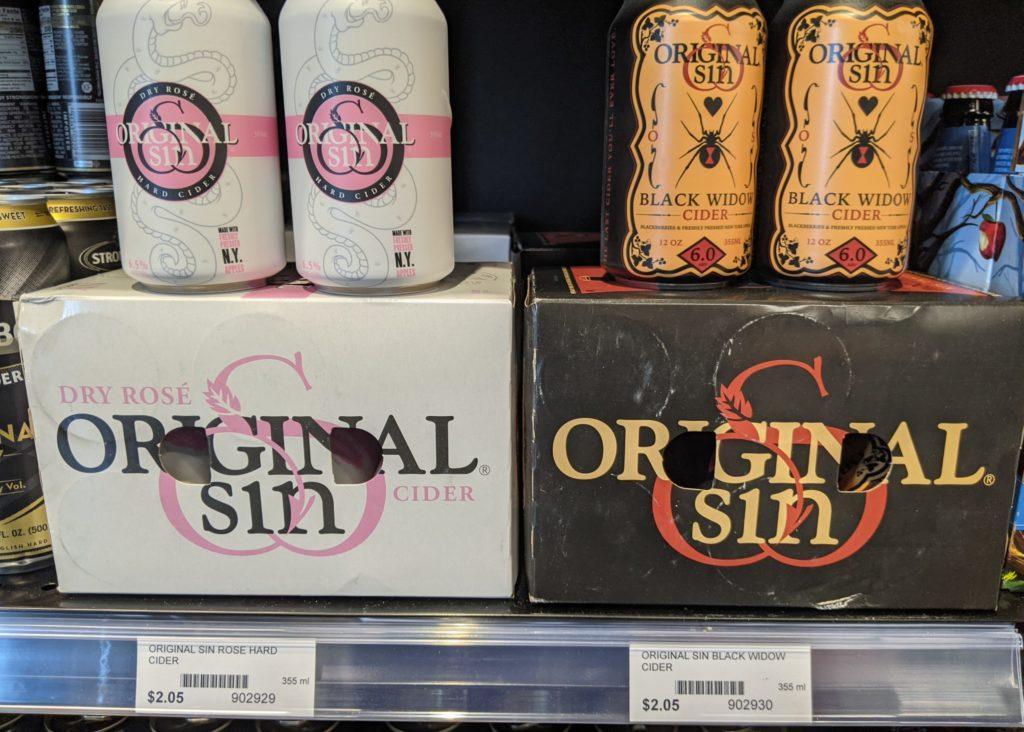 Original Sin Cider Utah Liquor Stores